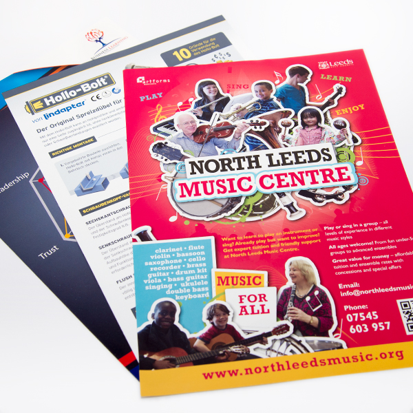A4 Single Sided Leaflets