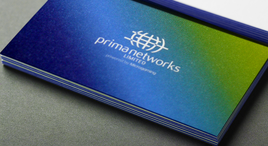Prima Networks Edge Printed Business Cards